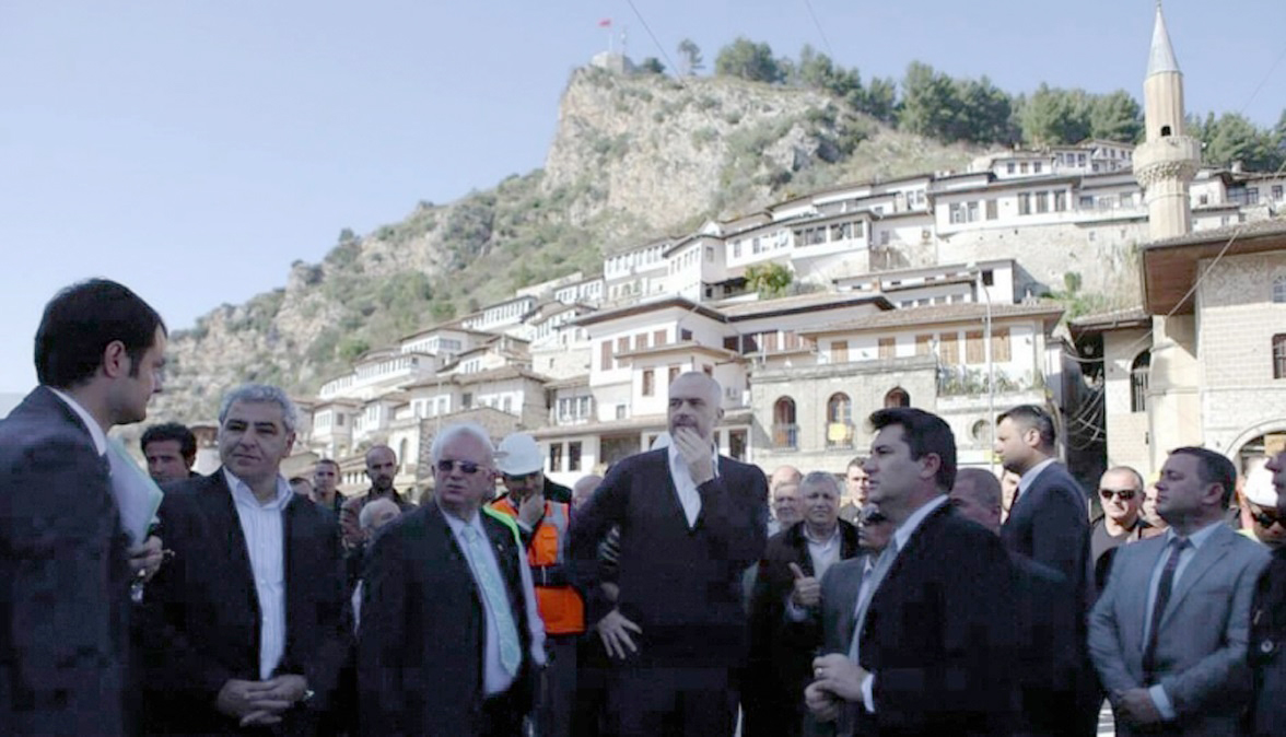 Prime Minister Rama, Mayor of Berat, and AADF Co-CEOs Inspect Progress in the Berat BID Zone