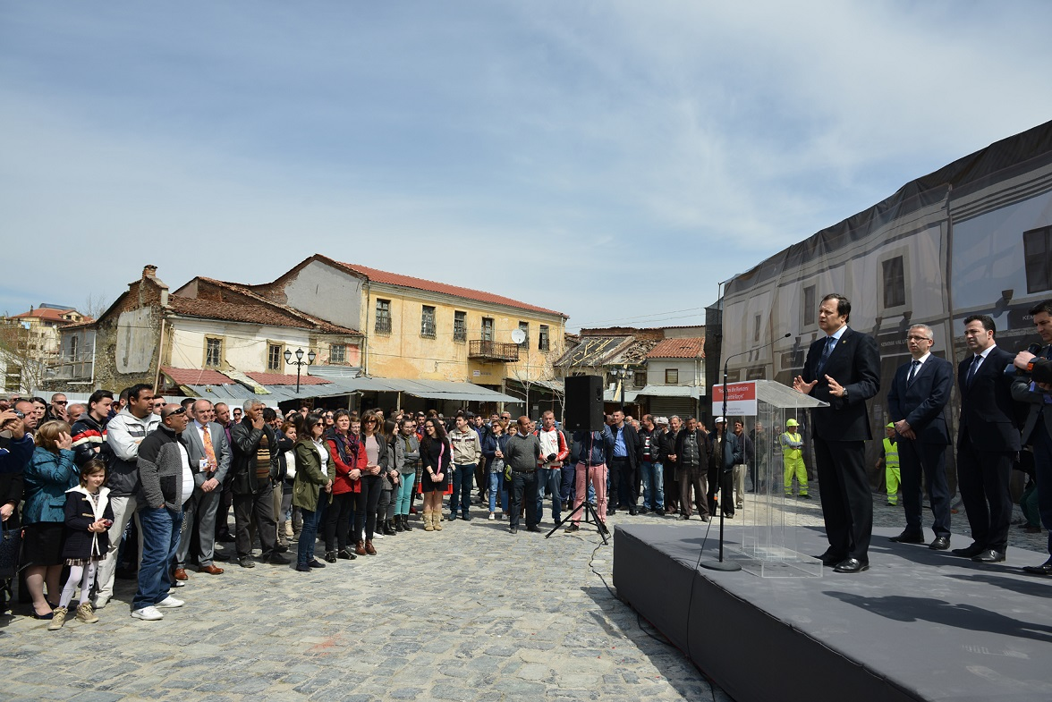 Groundbreaking Ceremony for Restoration of Korça Bazaar
