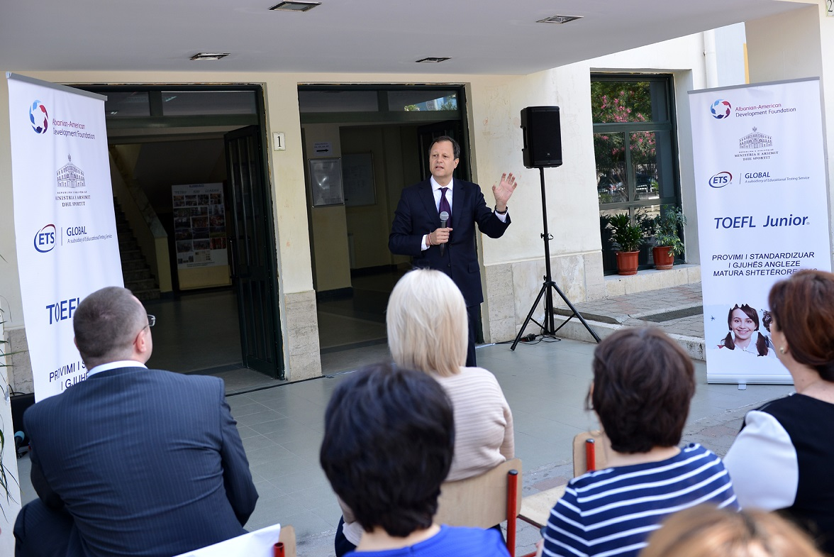 Chairman Granoff launched the TOEFL Junior® test pilot project