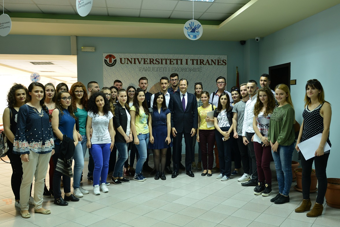 Open lecture by Chairman Granoff at the University of Tirana