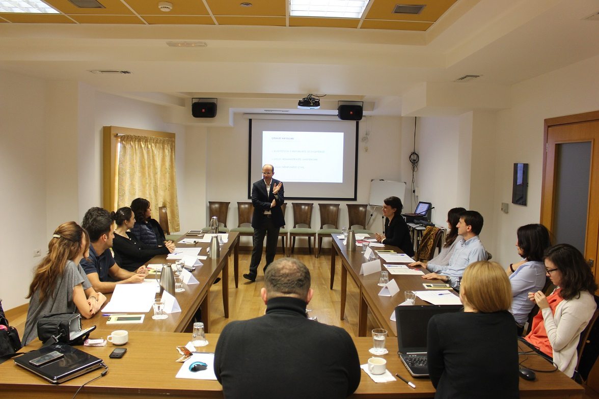 "LEAD Albania 2017: Workshop on ""Public Administration and the Role of Advisors"", 23 – 29 October 2016"