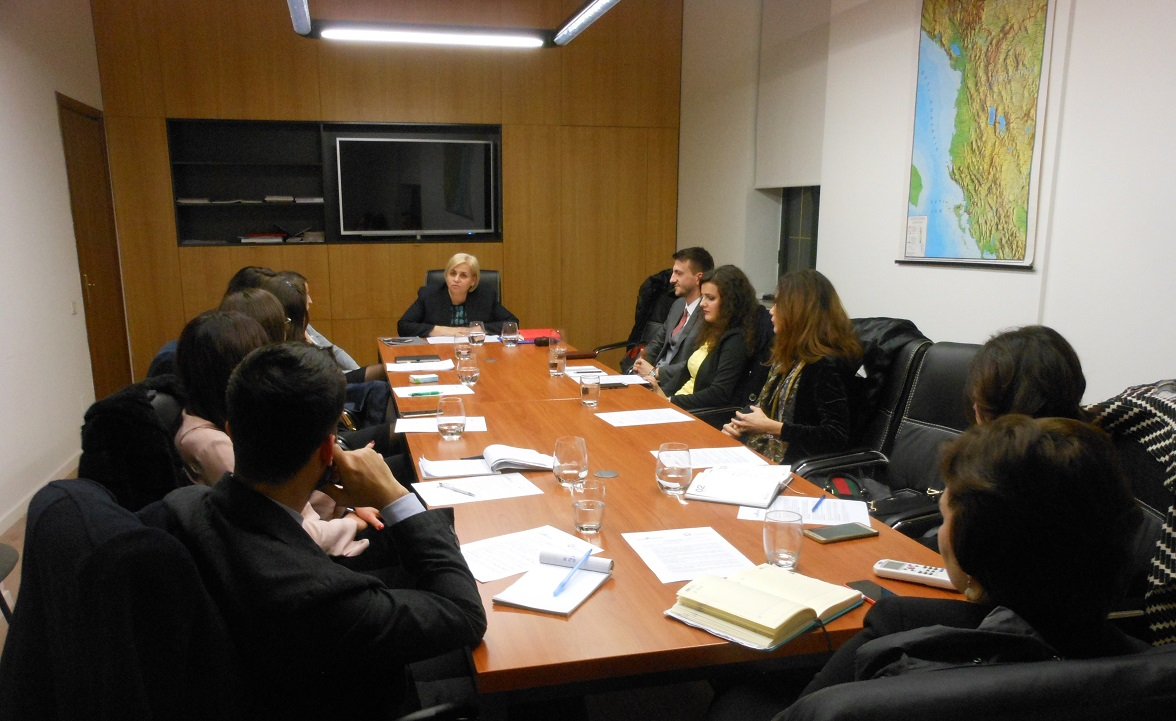 LEAD Albania 2017 Fellows meet Minister of Economic Development, Tourism, Trade & Entrepreneurship, Mrs. Milva Ekonomi