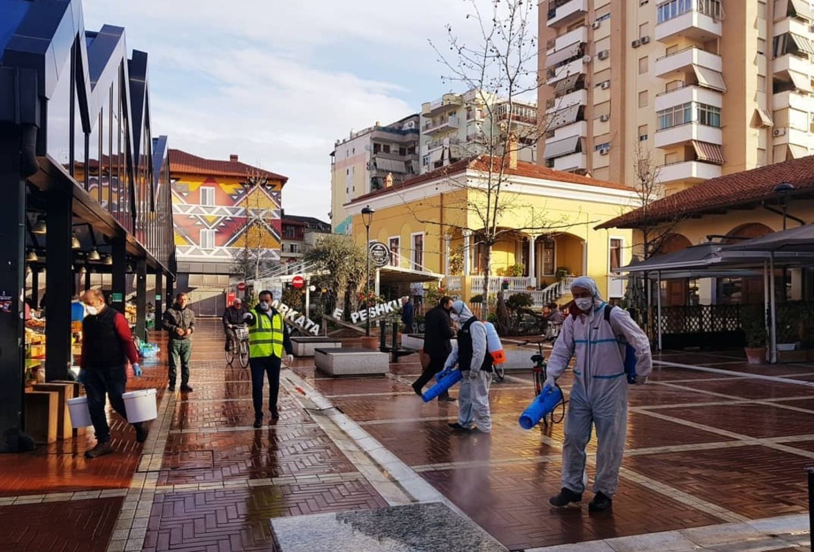 Safety, commitment and entertainment in the New Bazaar of Tirana, TID Tirana