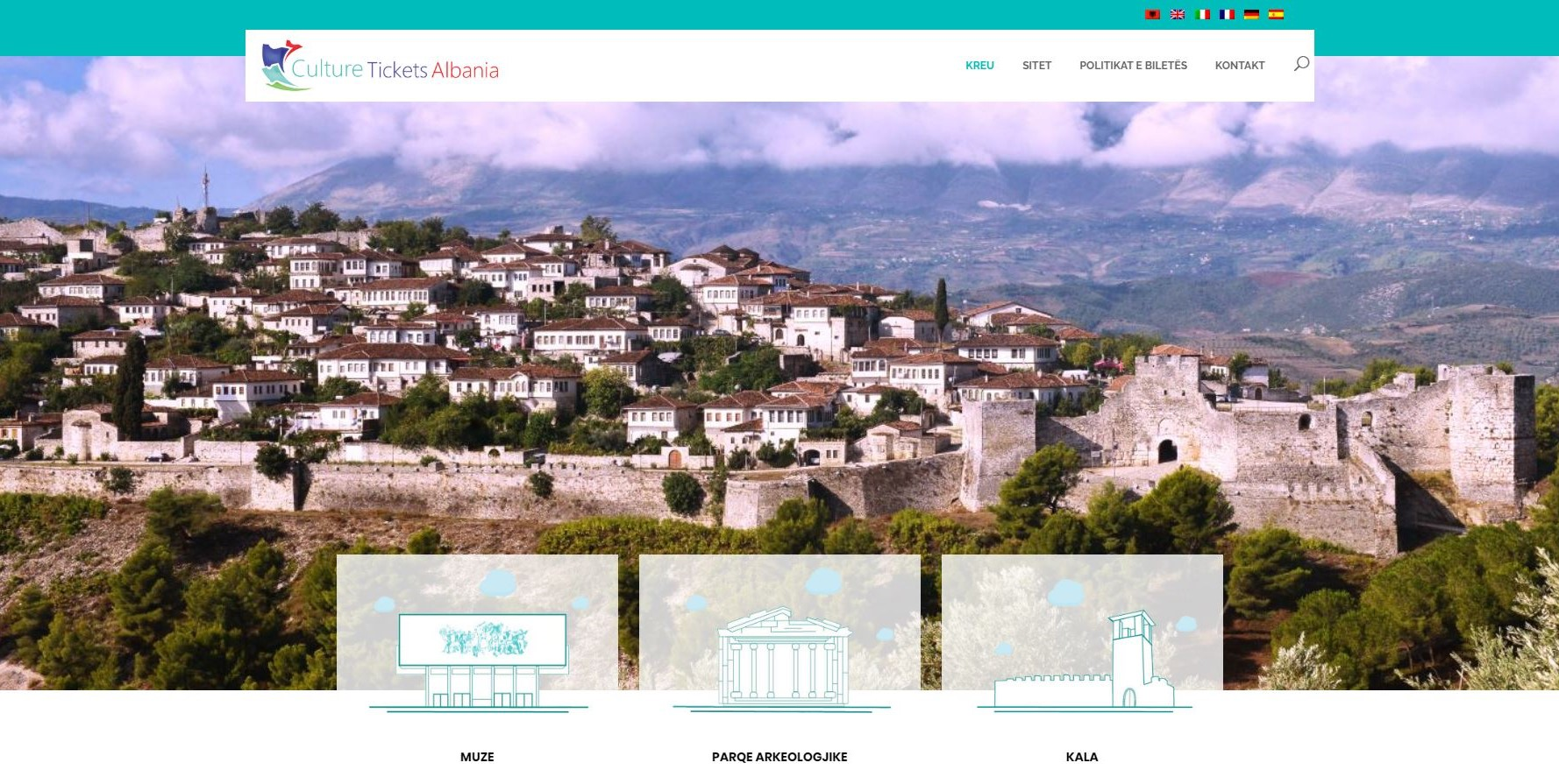 Online ticketing website in four other international languages