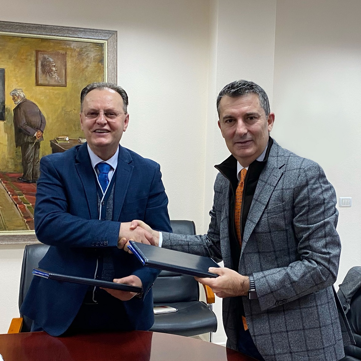 "AADF signs the ""CleanScore"" project implementation Agreement with the University of Elbasan ""Aleksandër Xhuvani"""